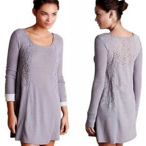 Anthropologie Eloise Gwyneira Thermal Lace Dress